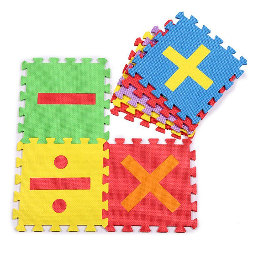 Floor mats for kids - Large Soft Foam Eva Floor Mat Jigsaw Tiles Numbers Kids Babies Puzzle Maths Play Mats 16pcs