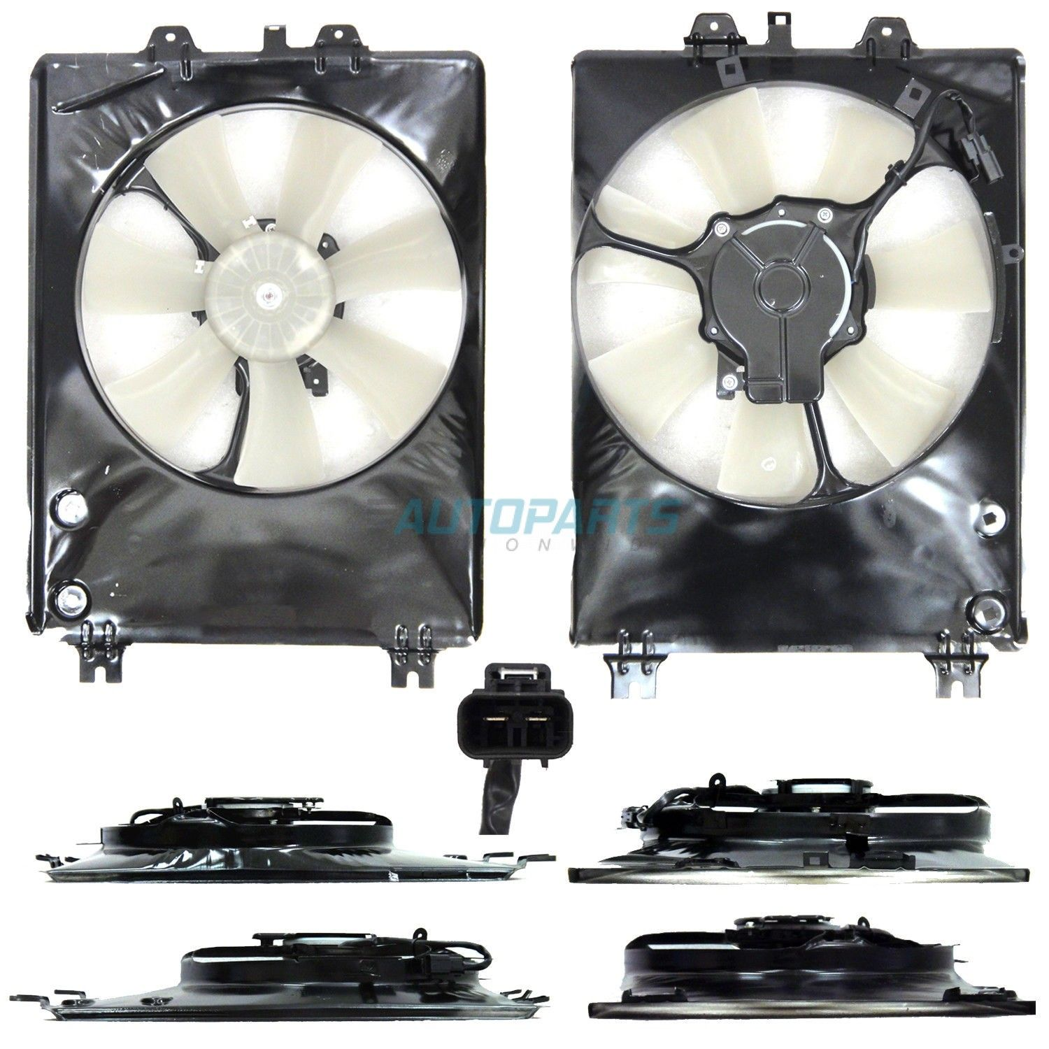 New Passenger Side Condenser Fan Assembly Fits 2010-2013