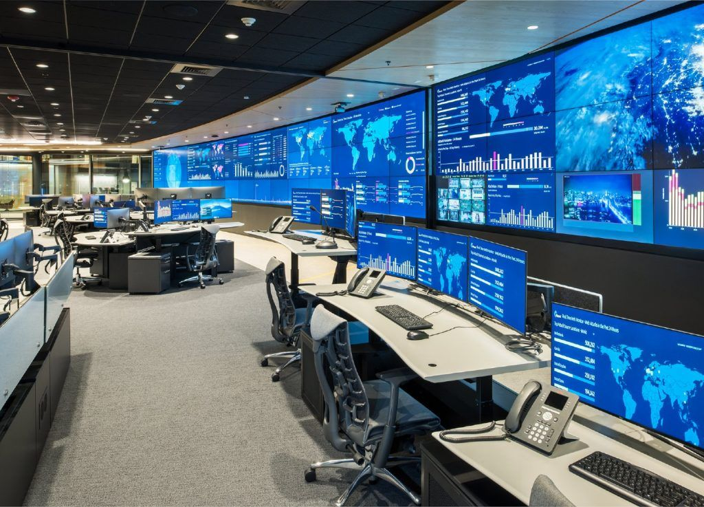 Constant Tech Builds Operations Center For New Akamai Headquarters In 2020 Modern Office Design Building Structural Engineering