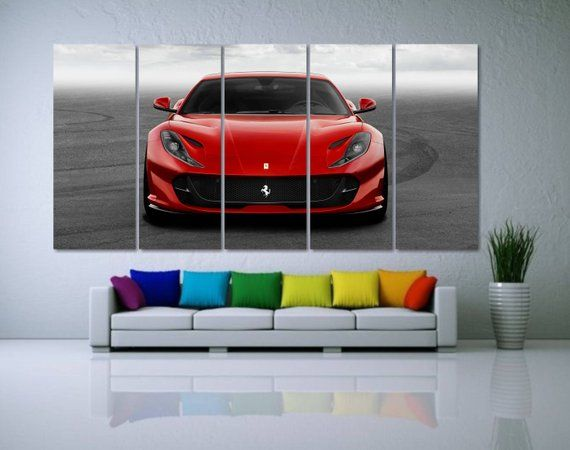 Ferrari Canvas Print Large Ferrari Poster Red Car Canvas Etsy In 2021 Cars Canvas Wall Art Wall Canvas Beautiful Room Ideas