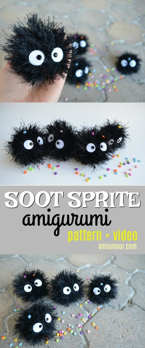 Soot Sprite Amigurumi Pattern - Ami Amour