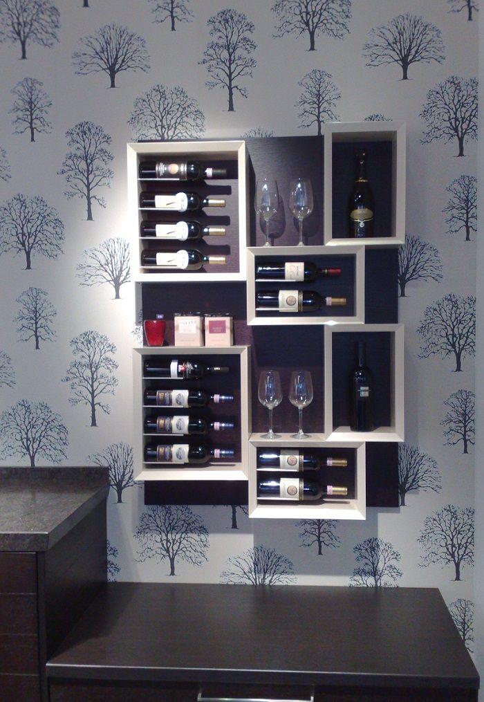 Portabottiglie In Legno Bianco.Portabottiglie In Legno Esigo 5 La Libreria Del Vino Con