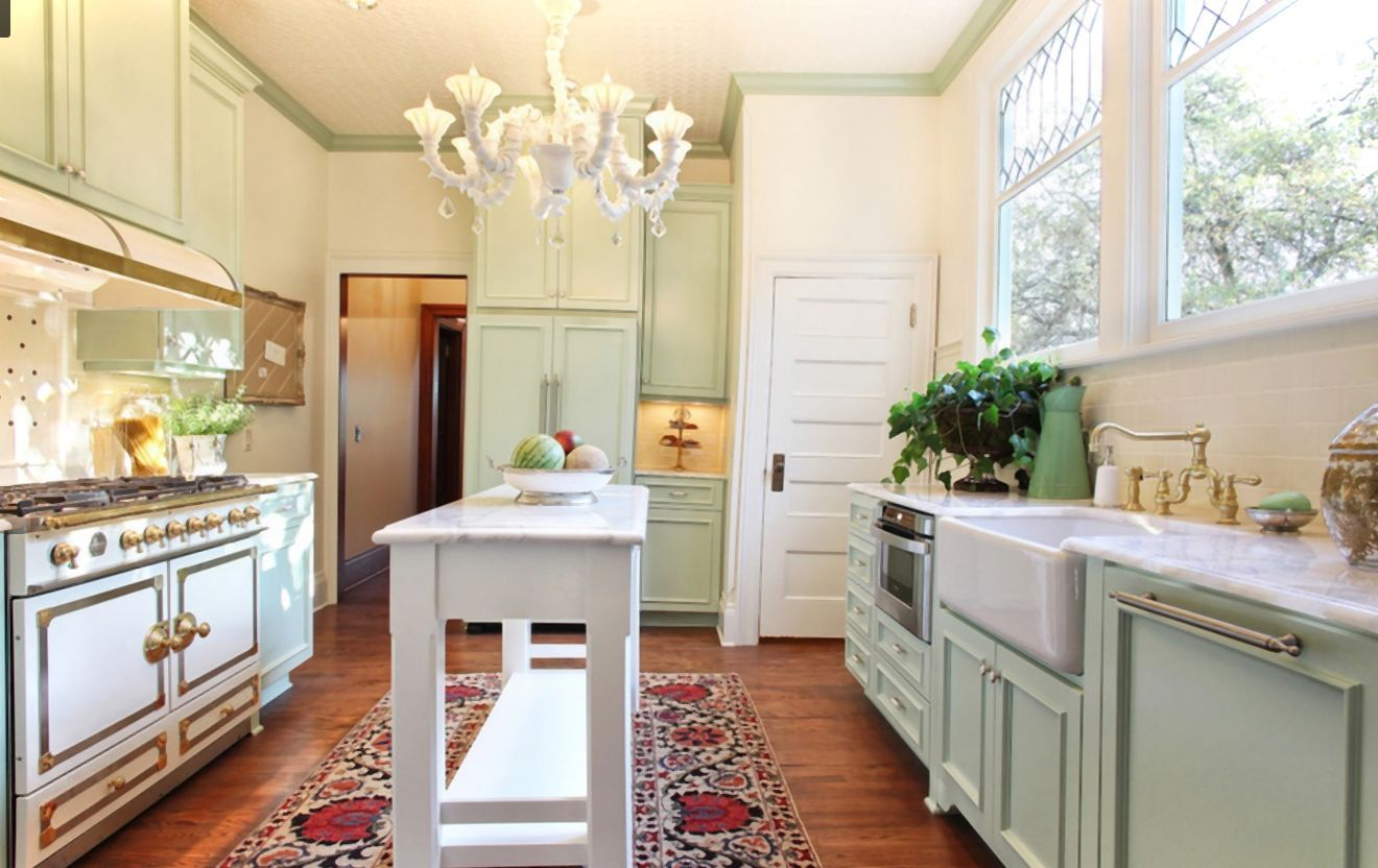 Small Modern Victorian Kitchen