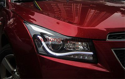 Headlamps For 2009 2013 Chevrolet Cruze Led Angel Eye With Bi