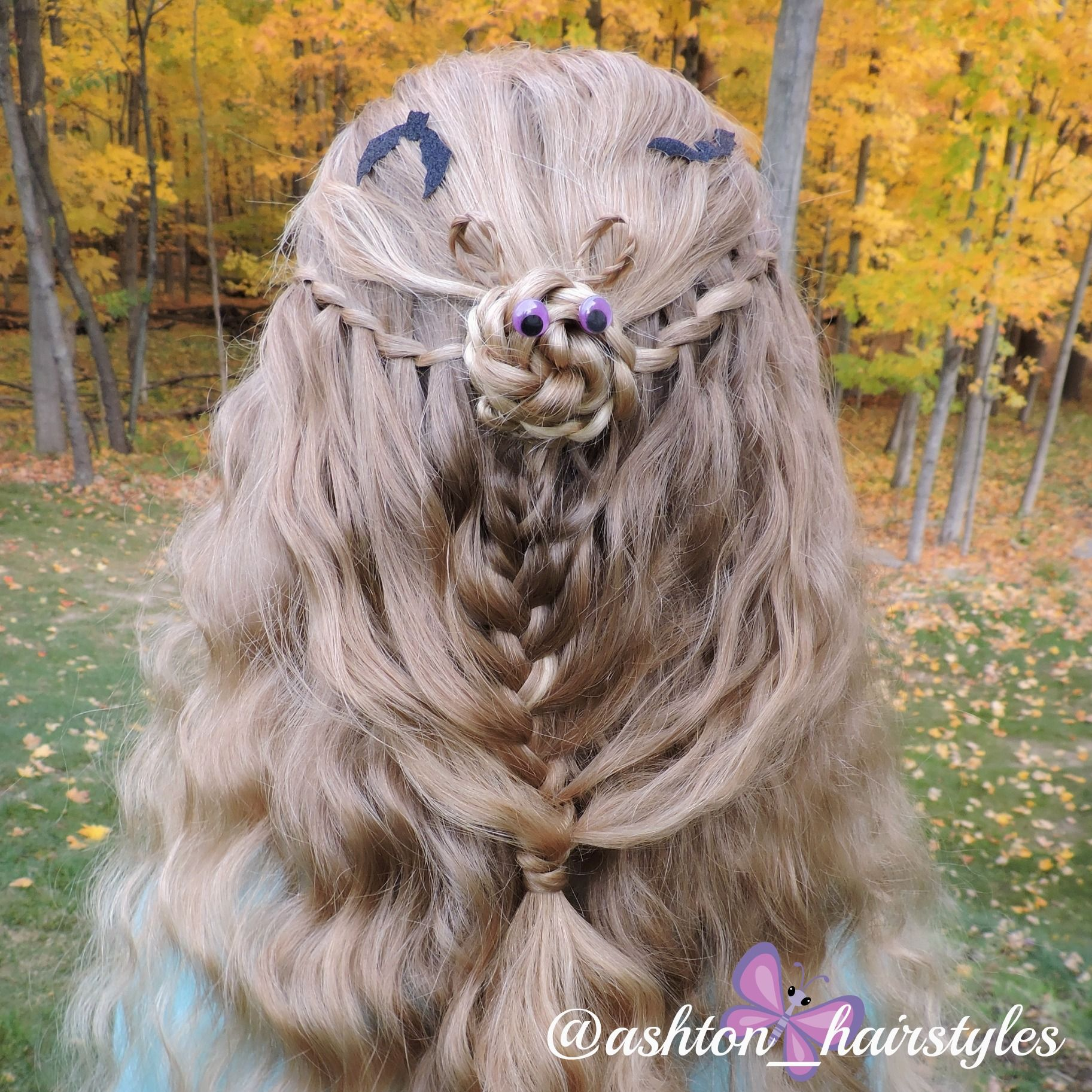 Halloween hair ideas this cute little waterfall bat is great for
