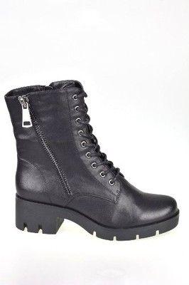 Trzewiki Botki Czarne Tamaris 37 25203 27 6572356614 Oficjalne Archiwum Allegro Combat Boots Boots Shoes