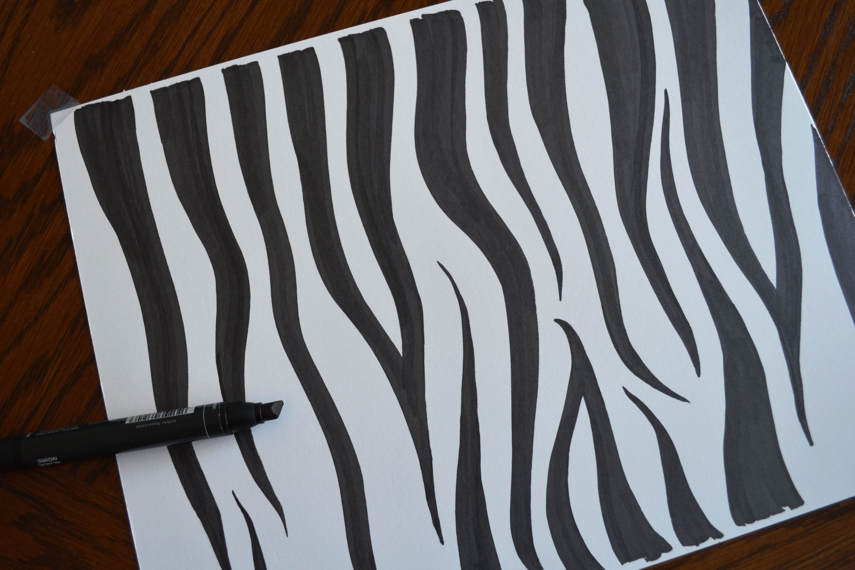 How To Draw Zebra Print Zebra Drawing Zebra Print Cool