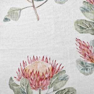 Protea Lente Fabric Wallpaper Stencil Hertex Fabrics Study Decor