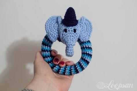 Amigurumi Rattle Free Pattern : Edward the circus elephant rattle free pattern free amigurumi