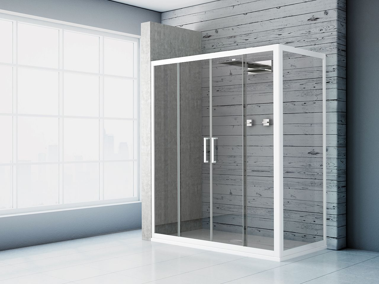 Zen box doccia 2 ante 70x120 trasparente bianco opaco