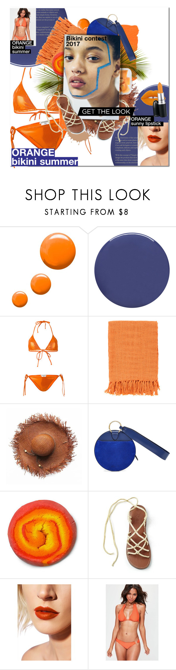 """""""BIKINI ORANGE 2017"""" by ivaxx ❤ liked on Polyvore featuring Topshop, Smith & Cult, Faith Connexion, Surya, Diane Von Furstenberg, Lime Crime, Missguided and MAC Cosmetics"""