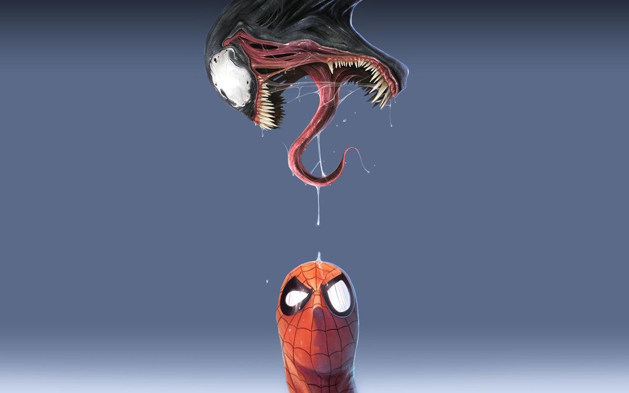 Venom Spider-man Marvel Comics  / 1280x800 Wallpaper