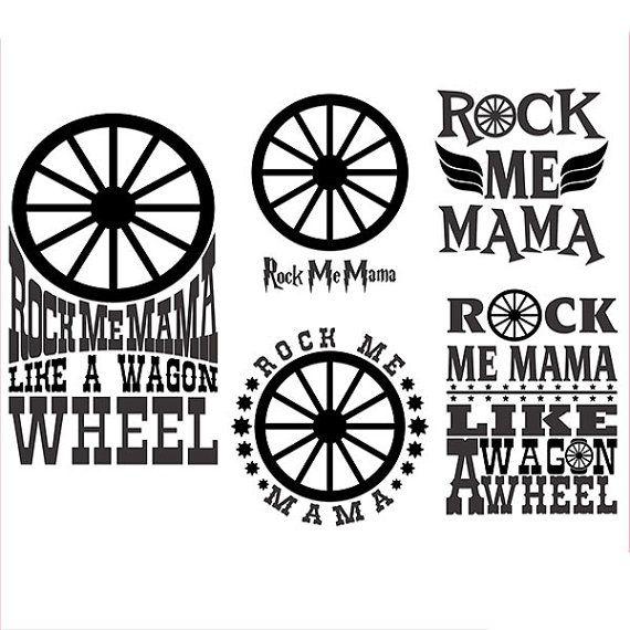 rock me mama cuttable svg designs por cuttablesvg en etsy  with images