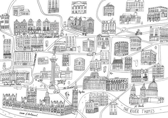 V illustration - London map