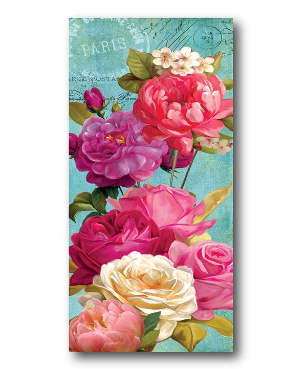 Look at this Pink Roses II Wrapped Canvas on #zulily today!