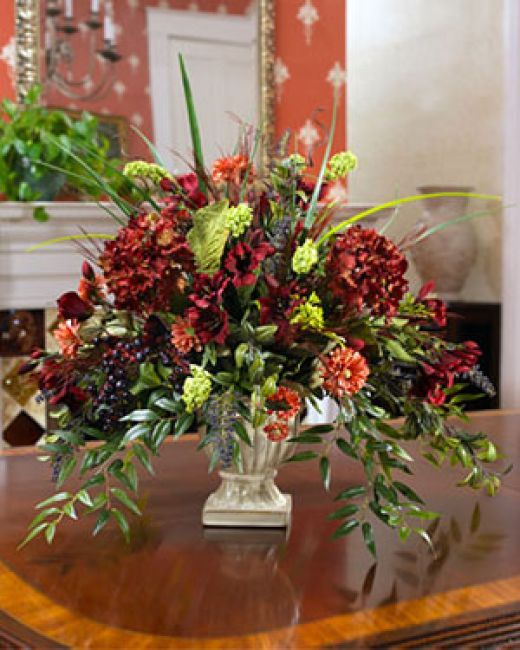 Artificial Silk Plants And Flowers Are The Perfect Centerpiece For Home