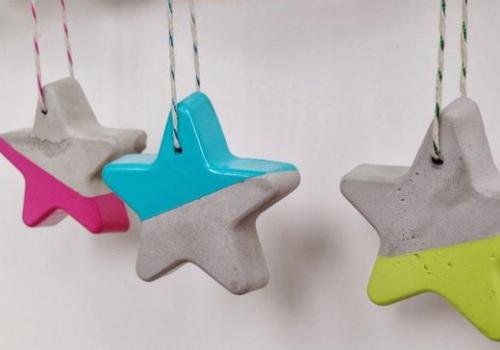 Prepara Tu Casa Para La Navidad Con Pintura Bricolaje De Adornos De Navidad Arte Con Cemento Manualidades En Cemento