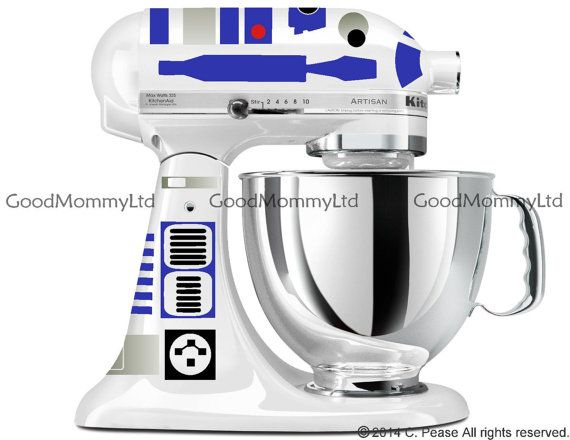 R2D2 Decal Kit For Your KitchenAid Stand Mixer   Star Wars Inspired