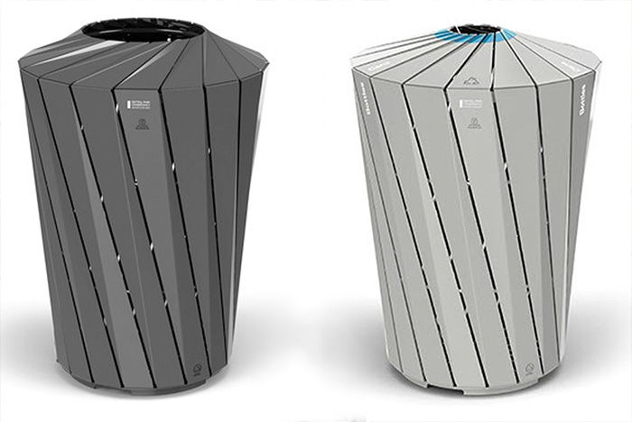 custom made designer trash bins pop up in nyc parks in 2019 street furniture trash bins. Black Bedroom Furniture Sets. Home Design Ideas