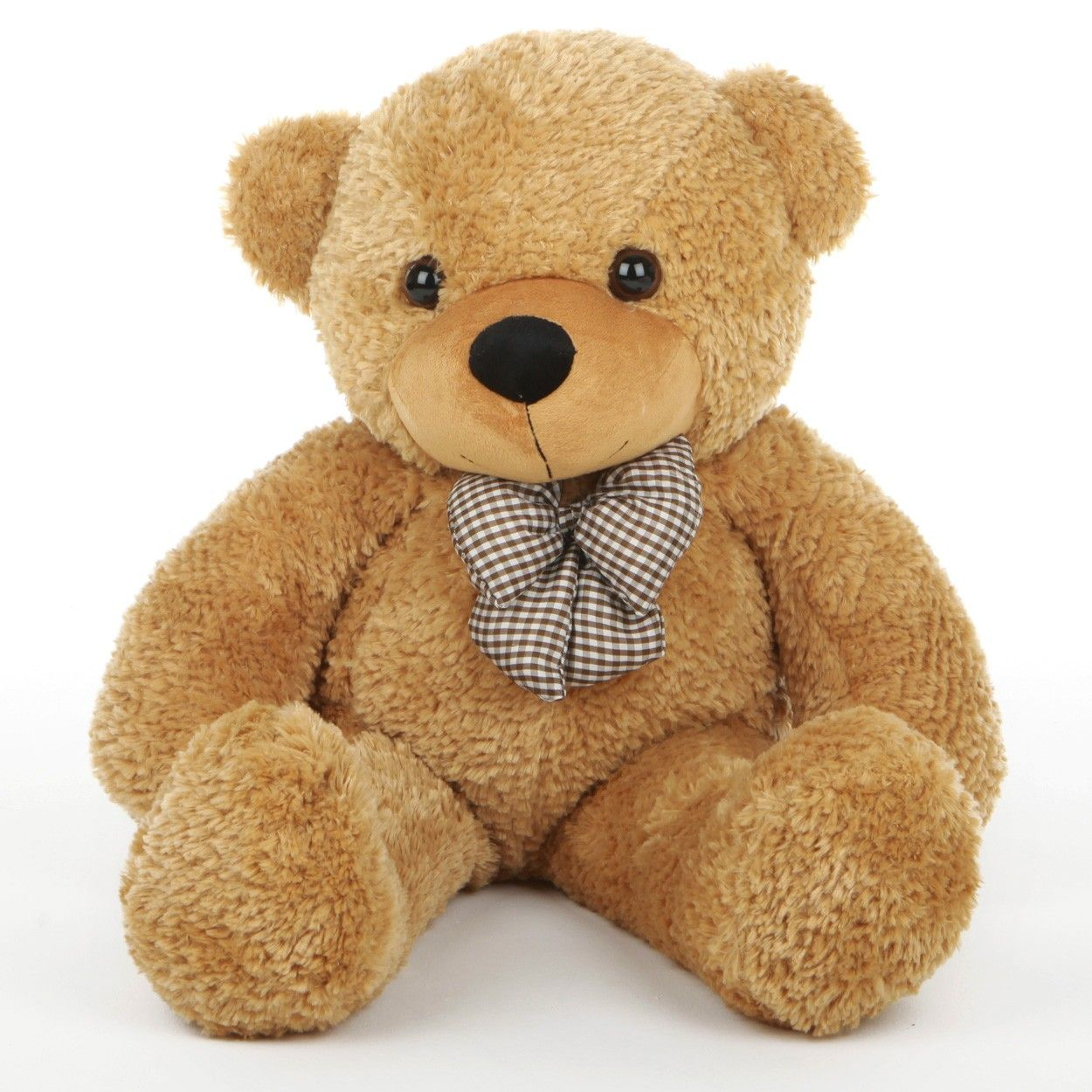 Shaggy Cuddles Cute and Cuddly Plush Amber Teddy Bear 30in ...