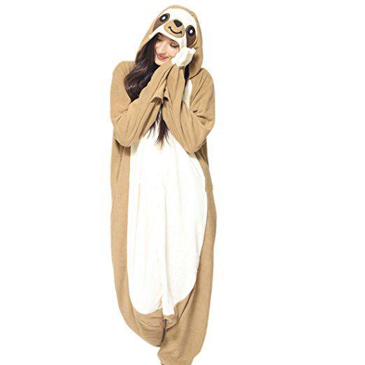 Casa Pyjama Tieroutfit Schlafanzug Tier Onesies Sleepsuit mit Kapuze ...