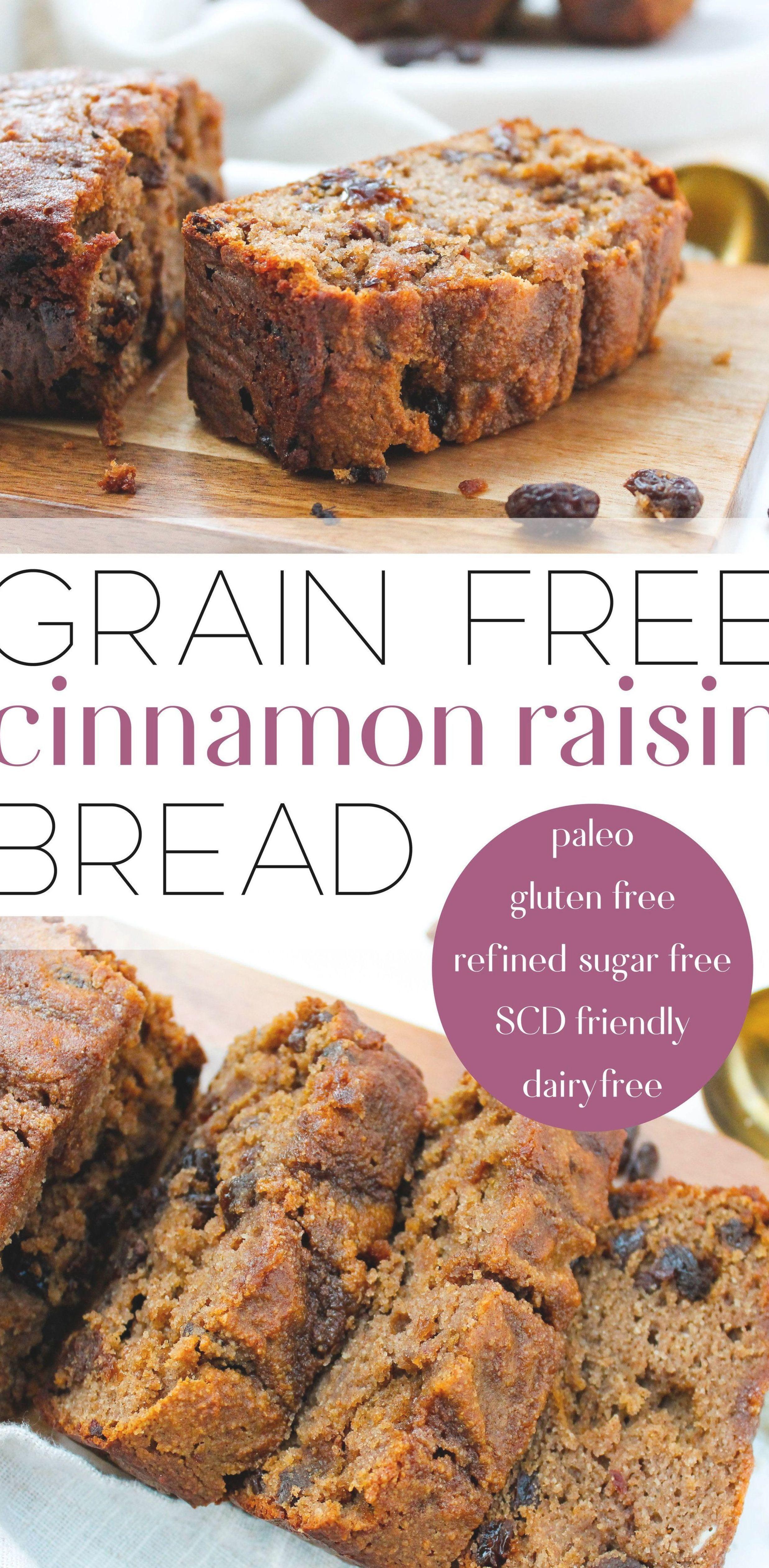 Paleo Cinnamon Raisin Bread This Paleo Cinnamon Raisin Bread Is The Perfect Twist On A Classic Favorite In 2020 Cinnamon Raisin Bread Cinnamon Raisin Raisin Bread