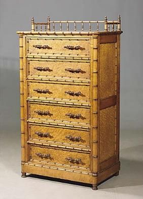 Aesthetic Faux Bamboo Lockside Chof Drawers, Possi