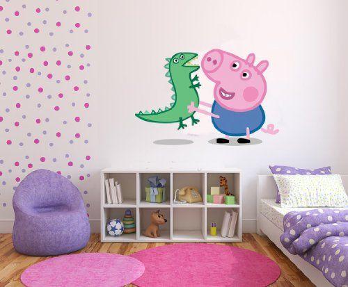 Peppa Pig George Dinosaur Wall Stickers Art Decal Vinyl Girls Bedroom Super