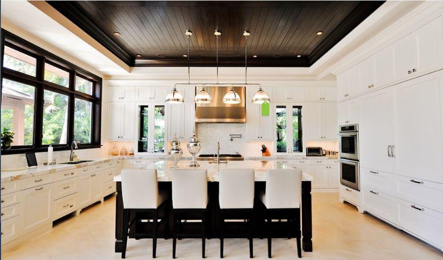 tongue & groove/ shiplap ceiling -  UPPER LANDING DINING RM & KITCHEN seeing drawing