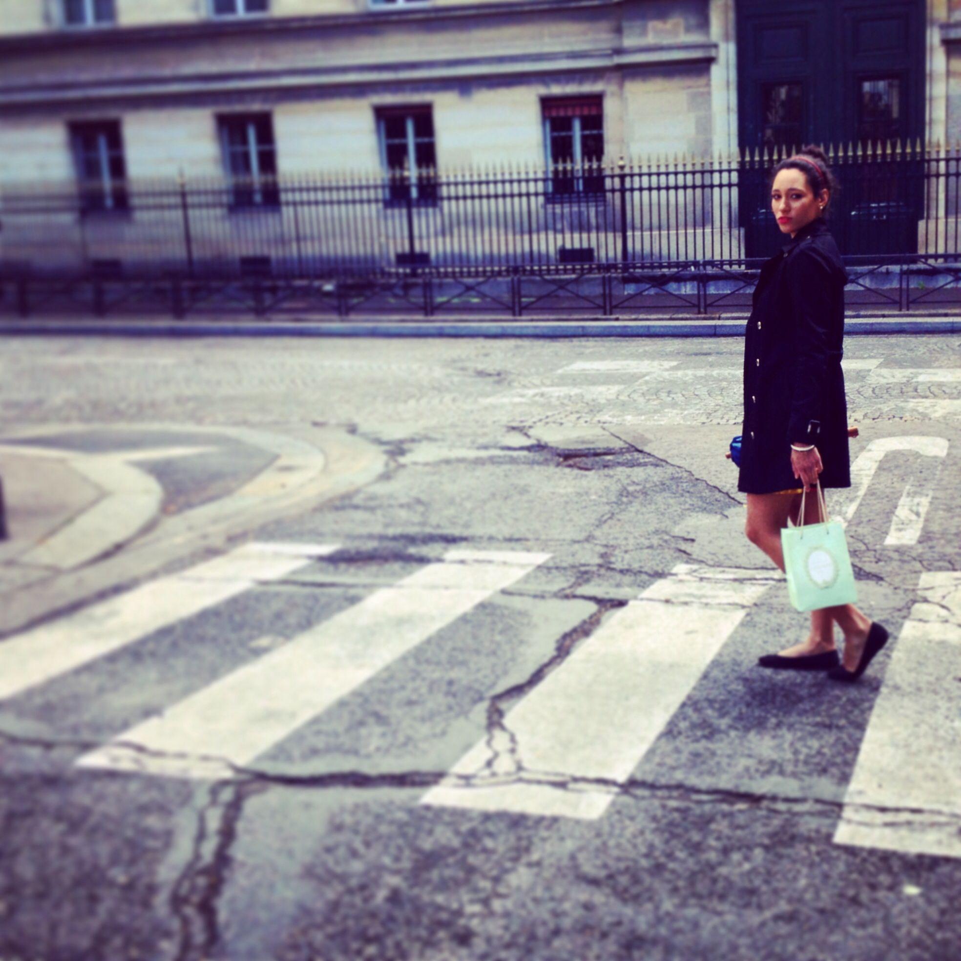 Leaving Laudree in Paris