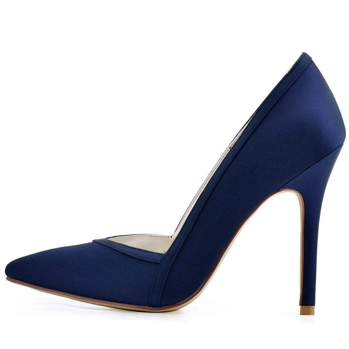 2c2a3d790c7e4 Amazon.com | ElegantPark Women's Pointed Toe High Heel V Cut Slip on ...