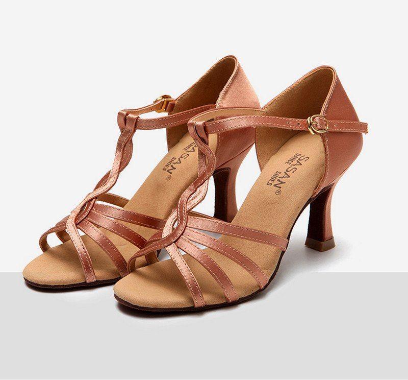 Encontrar Más Zapatillas de baile Información acerca de Nueva Latino Salón baile  Zapatos para la mujer e463a0a47ac