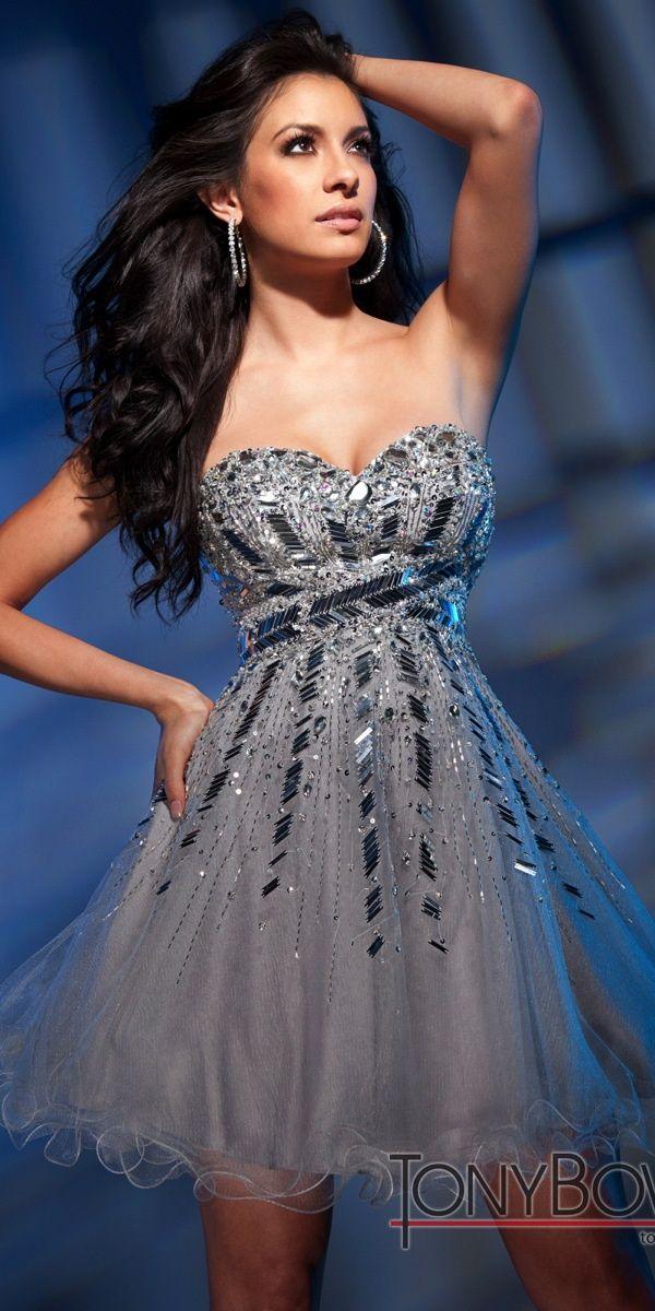 Silver Semi Formal Dress Tony Bowls Big Fashion Show Semi Formal