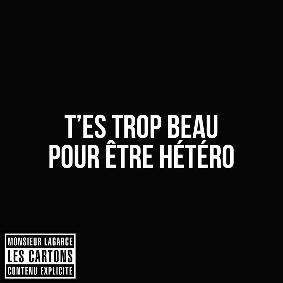T Es Trop Beau Pour être Hétéro Les Cartons Citation