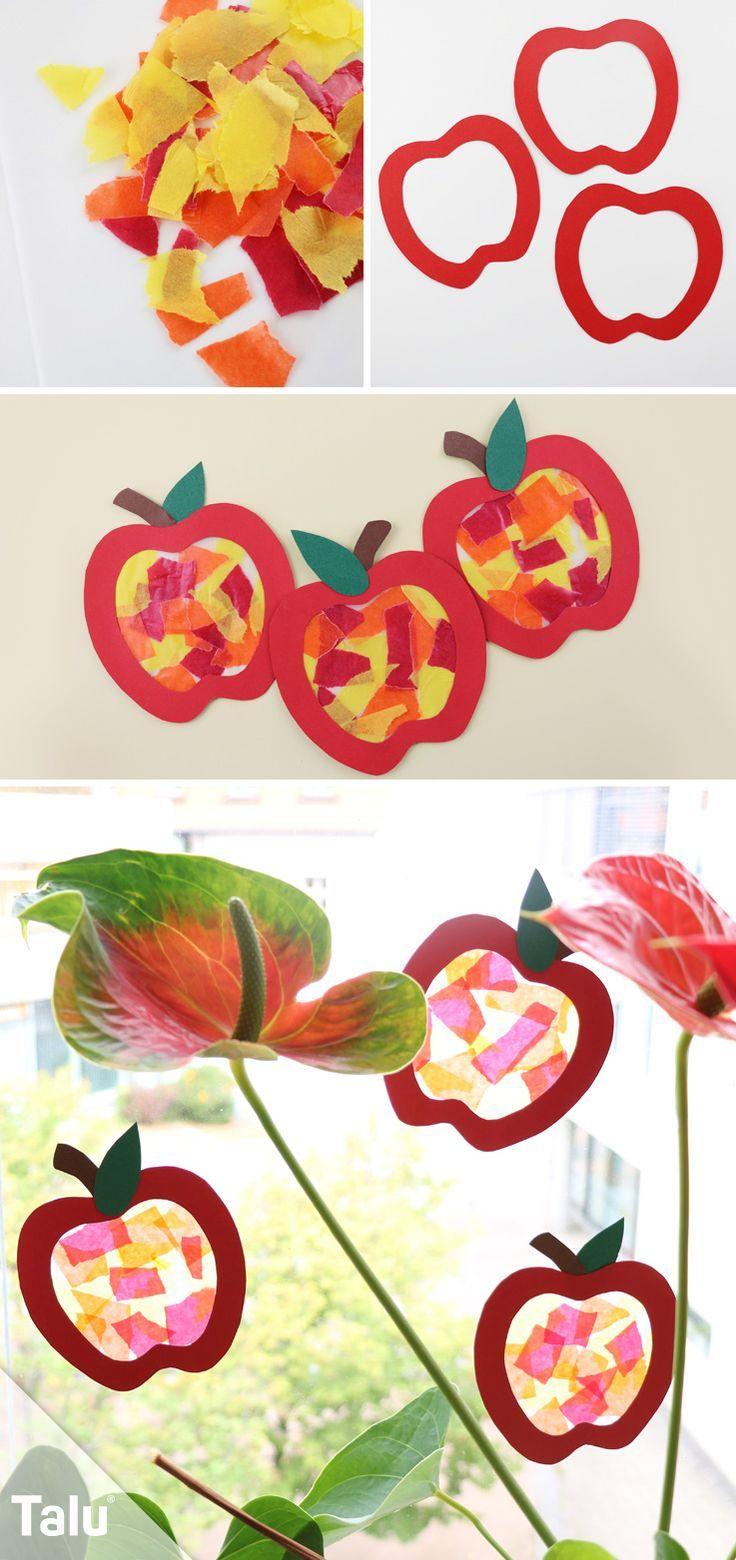 Herbst fensterdeko selber machen anleitung und kreative vorlagen basteln mit kindern - Herbst fensterdeko ...