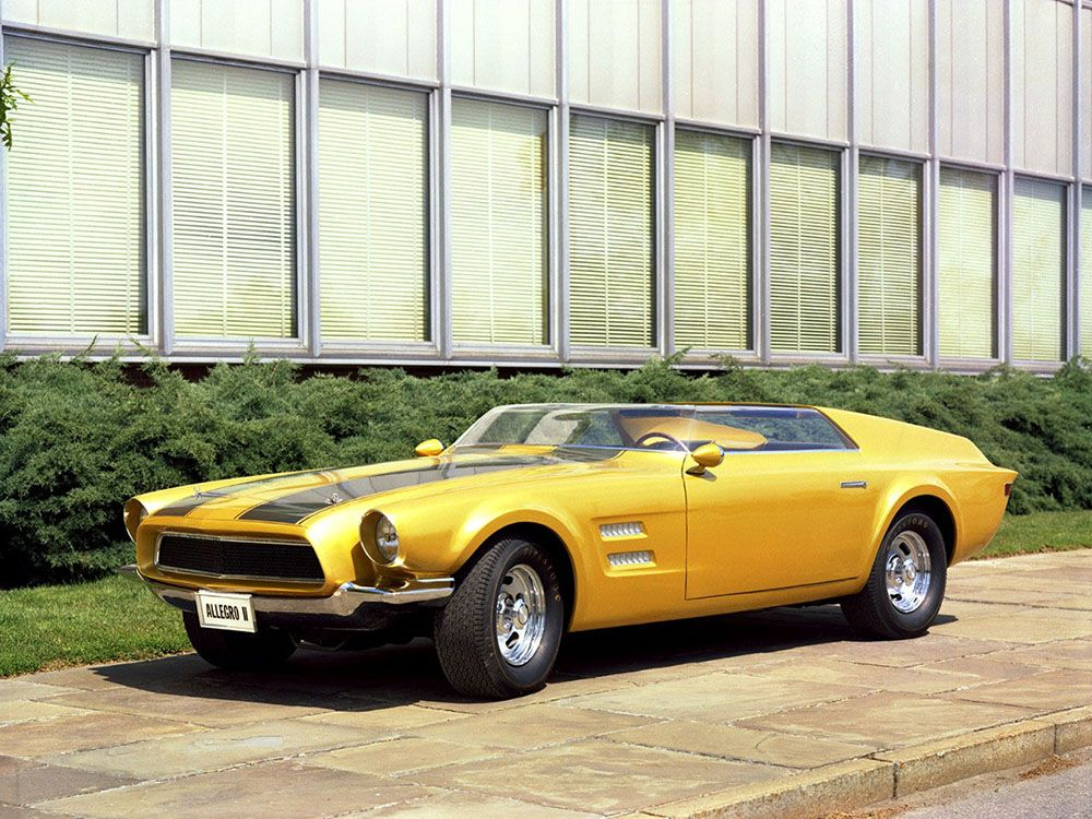 The Craziest Coolest Mustangs That Never Were The  Allegro Ii Concept Which Looks A Bit Like A Second Gen Camaro Mashed Up With Well