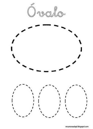ovalo formas geometricas infantiles fichas de formas gratis para ...