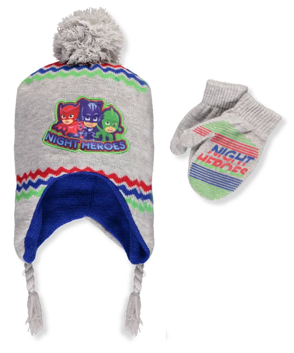 3385f6afc43 Disney Toddler Boys  PJ Masks Winter Scandinavian Hat with Pompom and Mitten  Set  4014