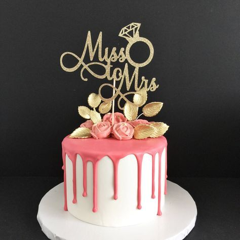 Bridal Shower Cake Topper Bride To Be Cake Topper