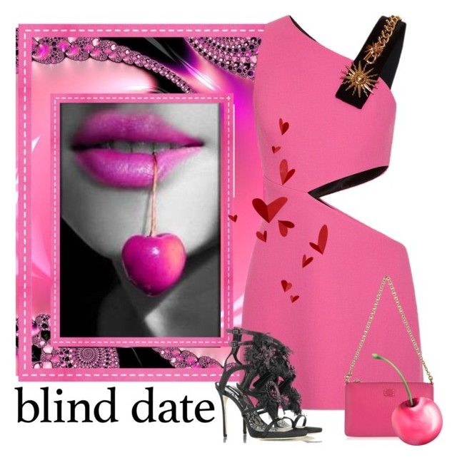 """""""Blind Date"""" by conch-lady ❤ liked on Polyvore featuring FAUSTO PUGLISI, Dolce&Gabbana, Dsquared2, hotpink, dresstoimpress and blinddate"""
