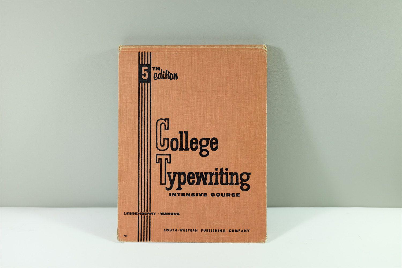 """Livre de cours intensifs de dactylographie """"College ..."""
