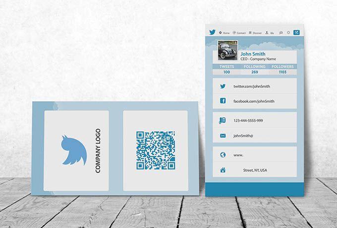 Twitter Business Card Design By John Yahchanan Business Card Design Social Media Icons Card Design
