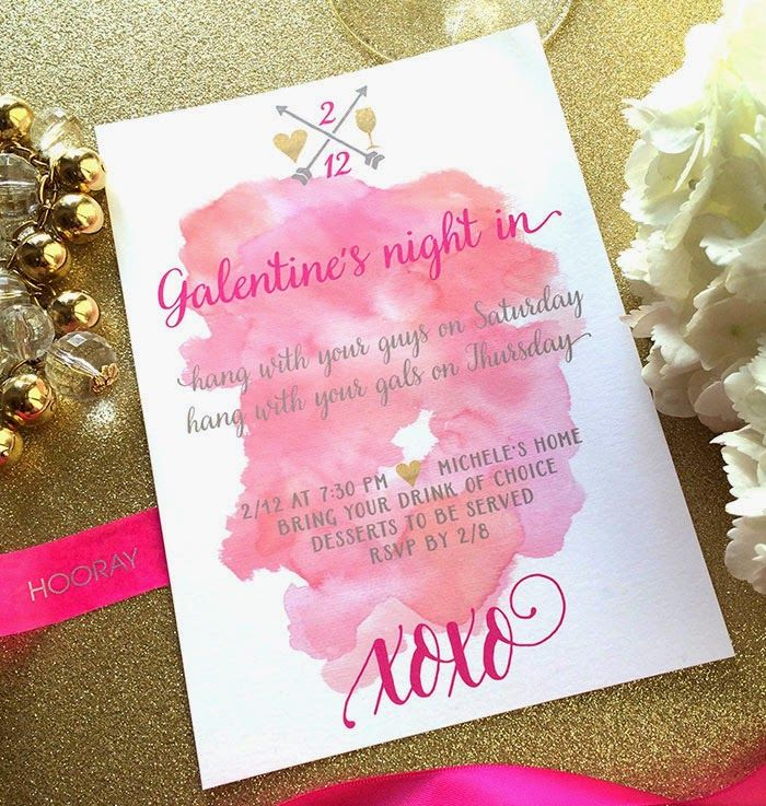 Galentine\'s Party Invitation | Party invitations