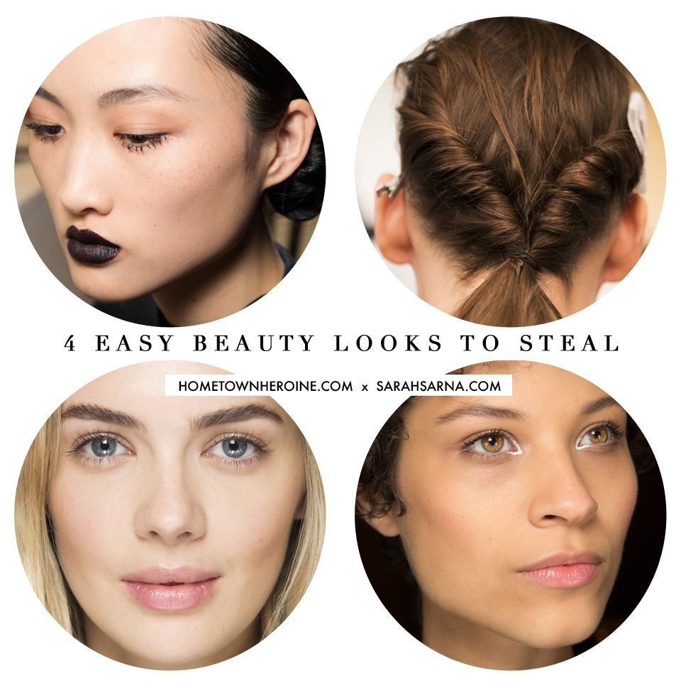 4 Easy Beauty Looks to Steal from the Fall 2016 Runways