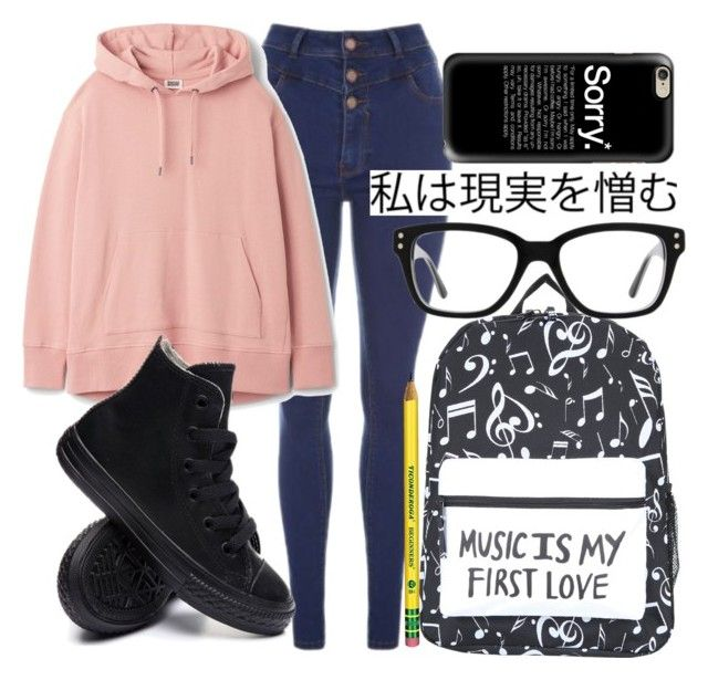 """""""Untitled #442"""" by carogamer ❤ liked on Polyvore featuring Converse and Casetify"""