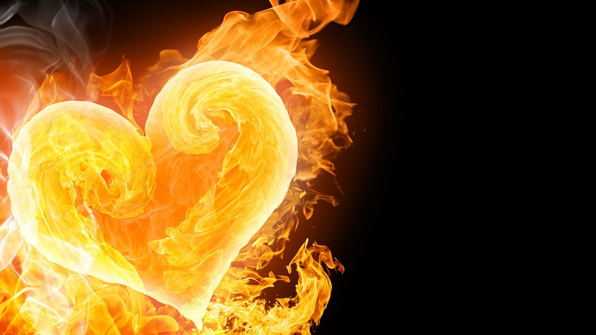 Fire and ice fractal abstract wallpaper hd wallpapers - Hearts Of Ice On Fire Holiday Wallpaper Named Heart Of Fire