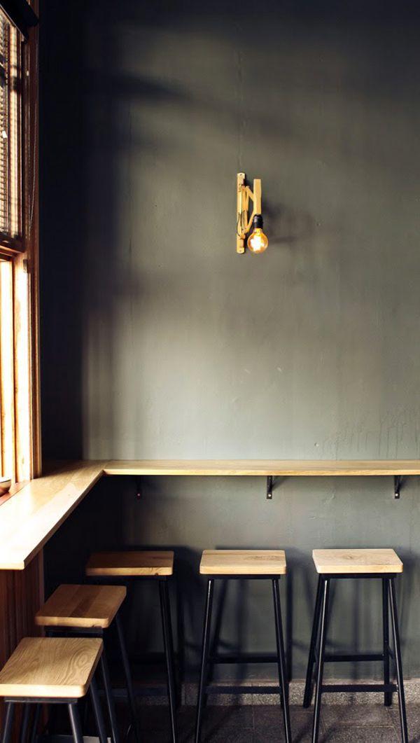 I like the idea of stools ledge