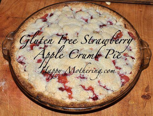 Strawberry Apple Crumb Pie Recipe {Gluten Free, Dairy Free, Egg Free}