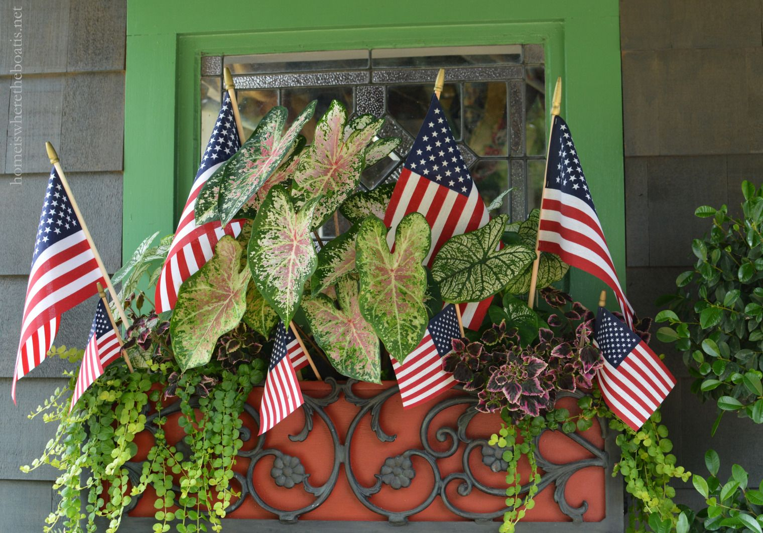 Potting Shed Celebrating the Red, White and Blue