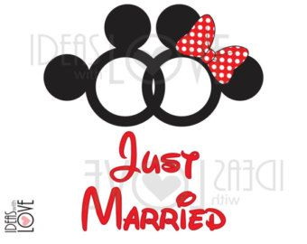 Just Married Disney Shirts Etsy
